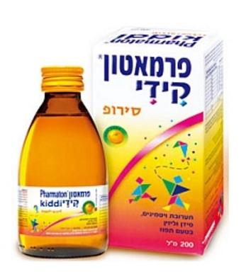 פרמאטון קידי סירופ תערובת ויטמינים, סידן וליזין בטעם תפוז