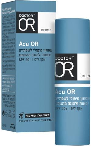 אקו-ליפ שפתון טיפולי +SPF50 דוקטור עור ACU OR
