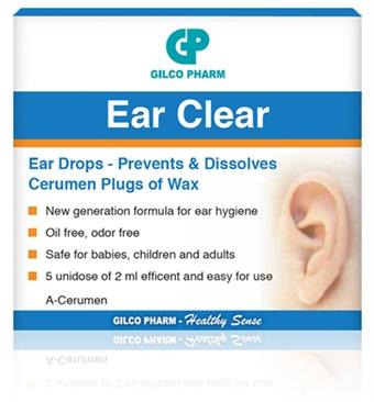 טיפות אוזניים איר קליר Ear Clear Drops