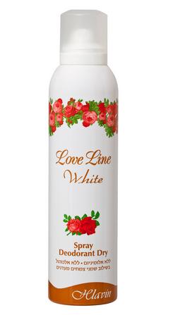 לאב ליין ווייט דאודורנט ספריי יבש לאישה HLAVIN LOVE LINE WHITE