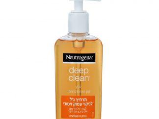 נוטרוג'ינה תרחיץ ג'ל לניקוי יסודי ועמוק לעור רגיל עד שמן Deep Clean Gel Wash