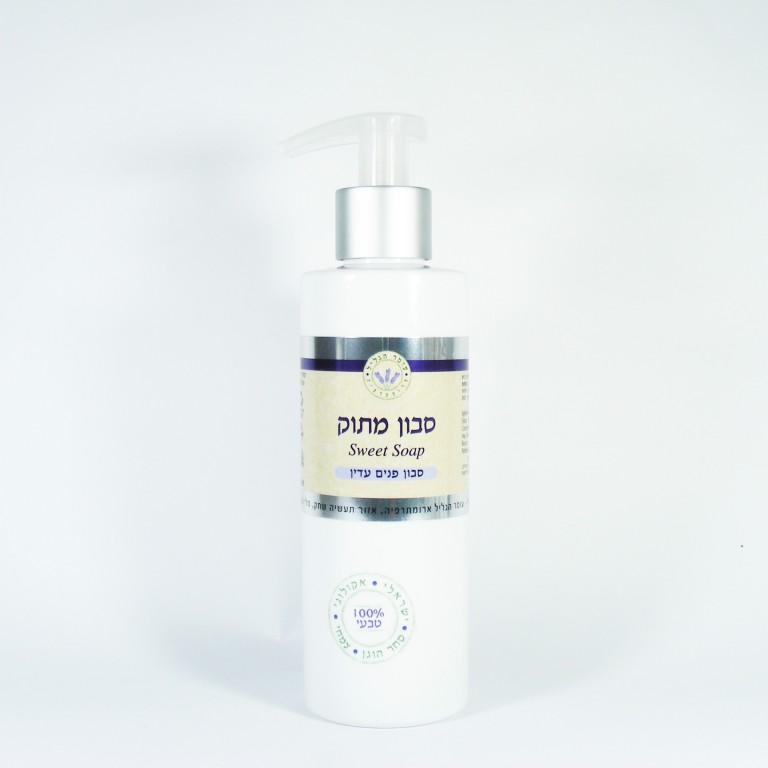 סבון מתוק לשימוש יום יומי לגוף, לפנים ולשיער SWEET SOAP עומר הגליל