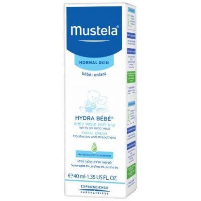 קרם לחות מוסטלה מועשר לפנים לתינוקות וילדים Mustela Facial Cream