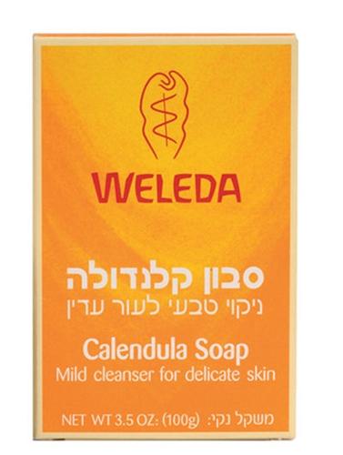 סבון קלנדולה וולדה ניקוי טבעי לעור עדין Weleda Calendula Soap