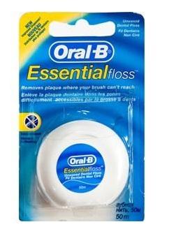 חוט דנטלי ללא שעווה ORAL-B Essential floss