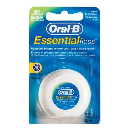 חוט דנטלי Oral-B Essential מצופה שעווה