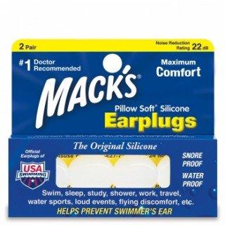 MACKS EARLPUGS אטמי אוזניים למבוגרים PILLOW SOFT SILICONE