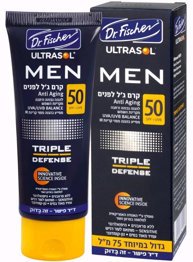 אולטרסול MEN קרם ג'ל לפנים לגבר SPF50 Ultrasol