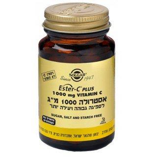 """אסטרולה 1000 מ""""ג ויטמין C לא חומצי סולגאר 30 טבליות"""