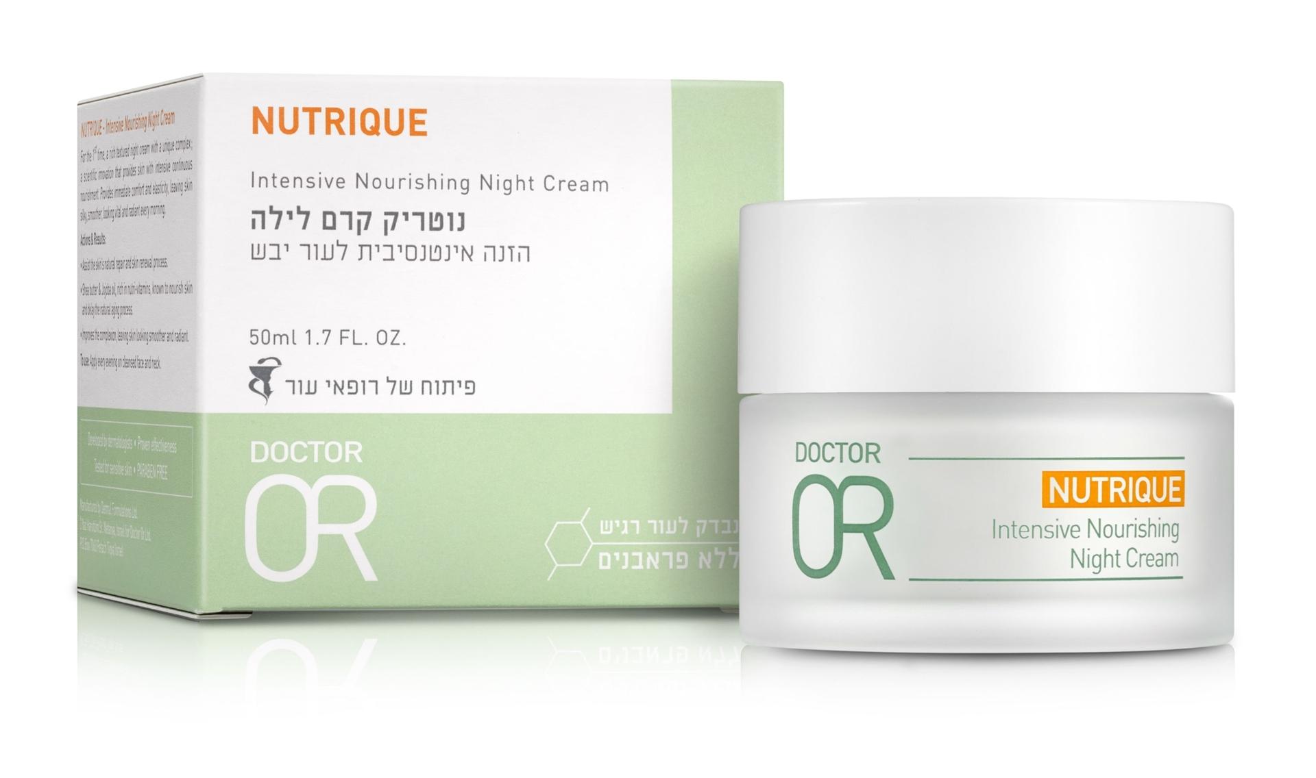 """ד""""ר עור נוטריק קרם לילה Dr.Or Nutrique Intensive Nourishing Night Cream"""