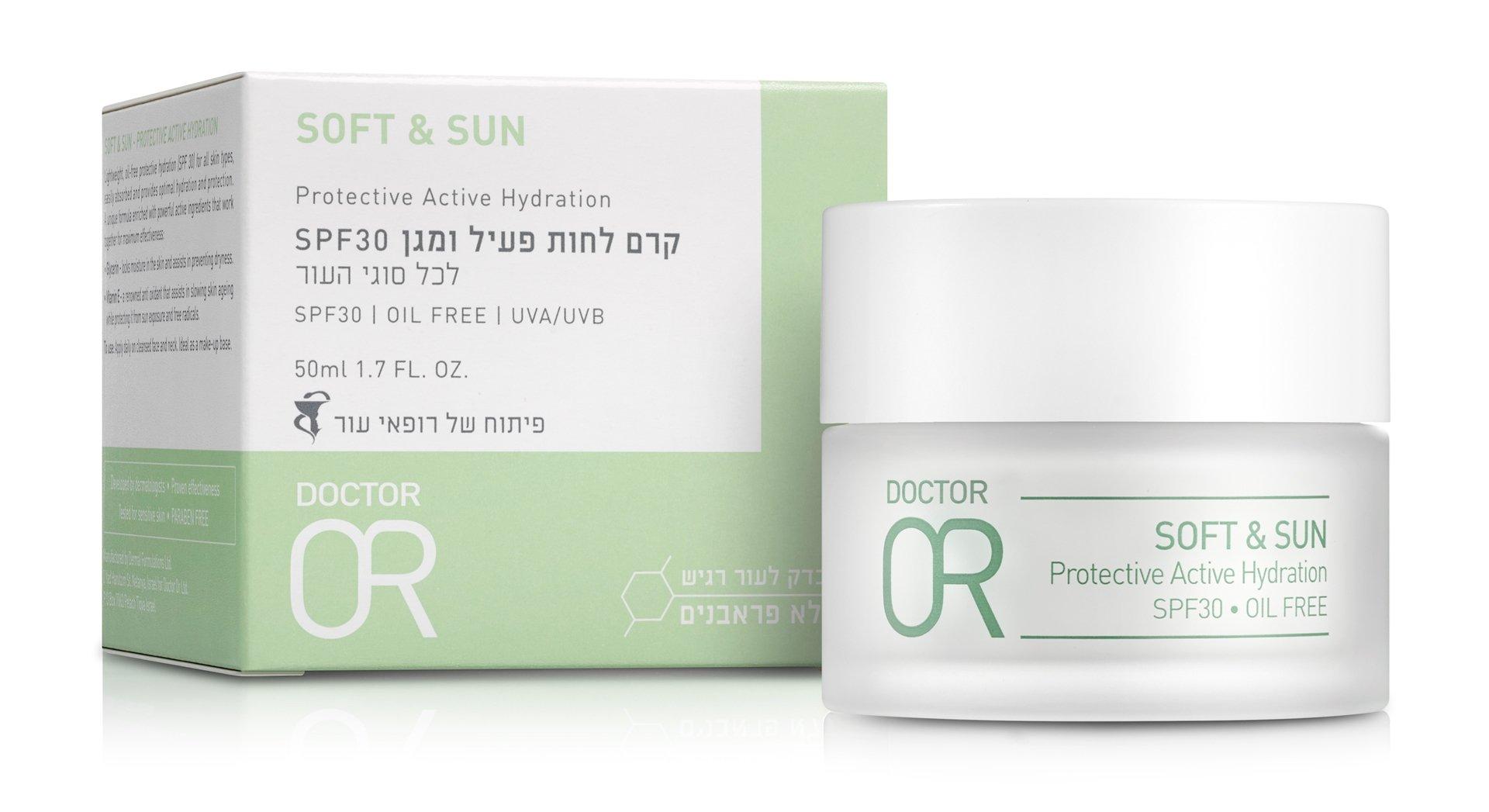 """ד""""ר עור סופט אנד סאן קרם לחות והגנה מהשמש Dr. Or Soft&Sun SPF30"""