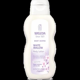 חלב גוף נטופית לבנה Weleda Baby Derma White Mallow וולדה