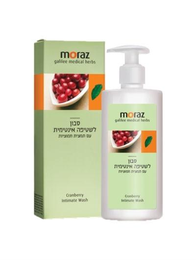 סבון שטיפה אינטימית מורז עם תמצית חמוציות Moraz Cranberry Intimat Wash