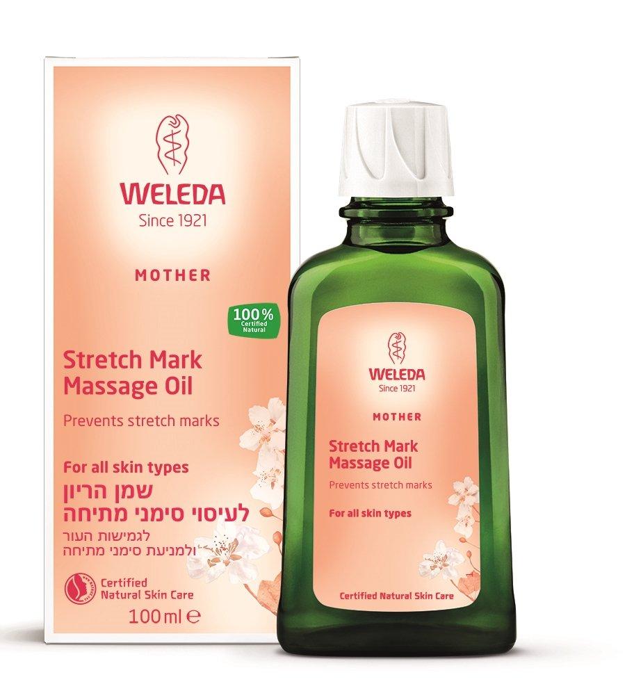 שמן הריון לעיסוי סימני מתיחה וולדה  Weleda Pregnancy Body Oil