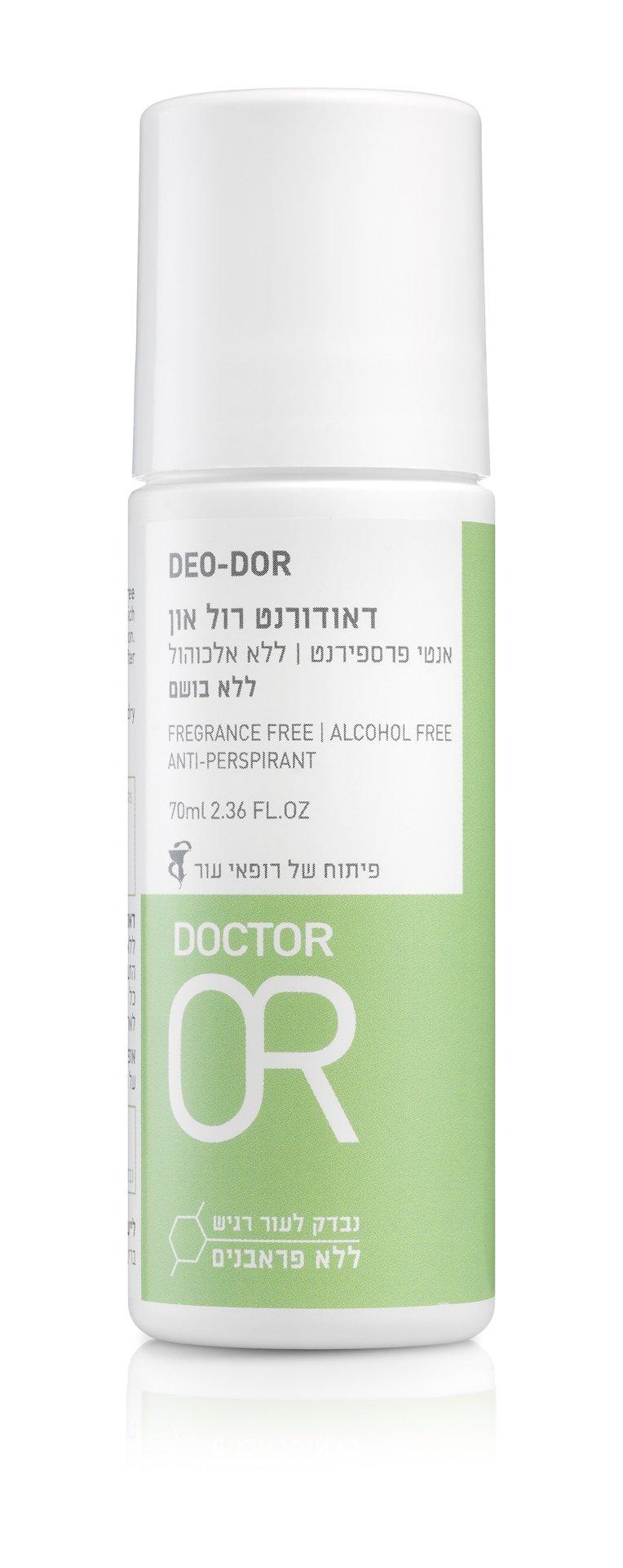 """דאודורנט רול און ד""""ר עור אנטי פרספרנט ללא בישום Dr. Or Deo-Dor"""