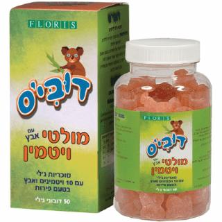 דובי'ס מולטי ויטמין לילדים עם אבץ פלוריש