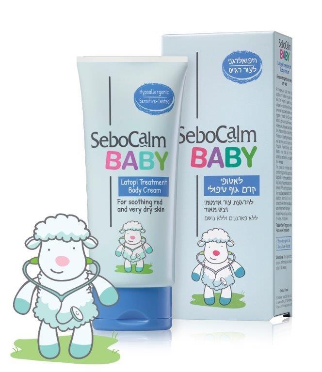לאטופי קרם גוף טיפולי סבוקלם בייבי Sebocalm Baby