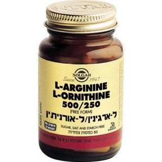 ל-ארגינין / ל-אורניטין סולגאר A-rginine/O-rnitine