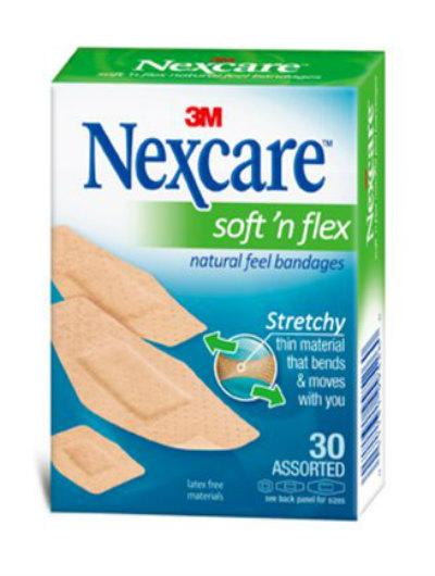 נקסקר פלסטר סופט אן פלקס במגוון גדלים Nexcare Bandages Soft 'N Flex