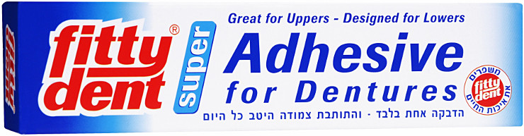 פיטידנט משחת הצמדה לתותבות FITTYDENT ADHESIVE FOR DENTURES