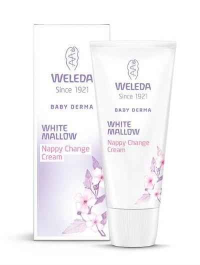 קרם פנים נטופית לבנה WELEDA Weleda Baby Derma White Mallow