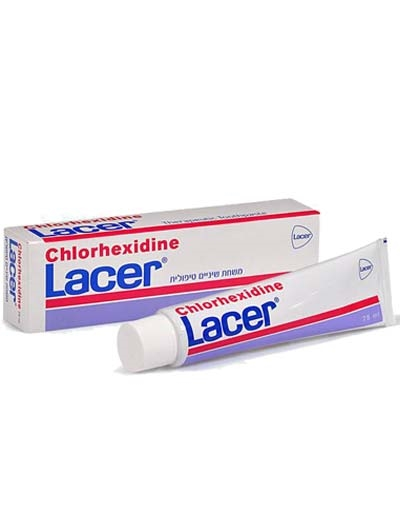 Lacer Chlorhexidine כלורהקסידין משחת שיניים לאסר