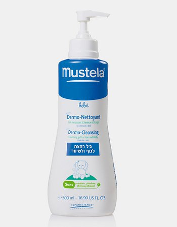 ג'ל רחצה מוסטלה לגוף ולשיער לתינוקות וילדים  Mustela Dermo Cleansing