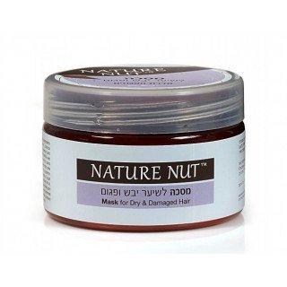 Nature Nut נייטשר נאט מסכת שיער מקצועית לשיער יבש ופגום