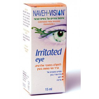 NAVEH VISION IRRITATED EYE טיפות לעין