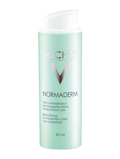Vichy Normaderm Beautifying Anti-Blemish Care 24H Hydration נורמדרם וישי קרם לחות