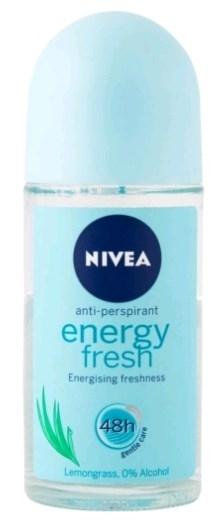 אנרג'י פרש ניוואה דאודורנט רול און אנטי פרספרנט לאישה Nivea Deodorant Energy Fresh
