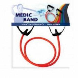 גומיית כושר MEDIC BAND להתעמלות ופילאטיס - אדום
