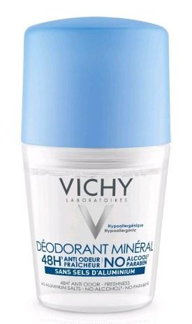 דאודורנט מינרלי 48 שעות רול און וישי Vichy Mineral Deodorant Rollon
