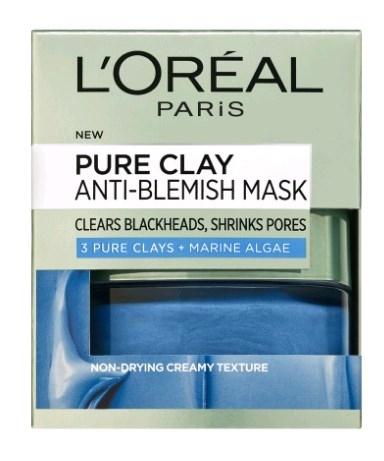דרמו פיור קליי לוריאל  מסיכה כחולה עם תמצית אצות ים L'Oreal Dermo Pure Clay