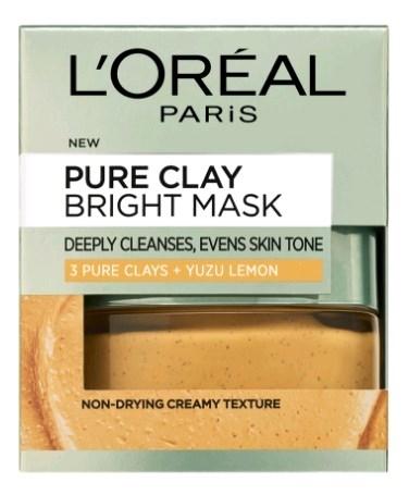 לוריאל דרמו פיור קליי מסיכה צהובה L'Oreal Dermo Pure Clay