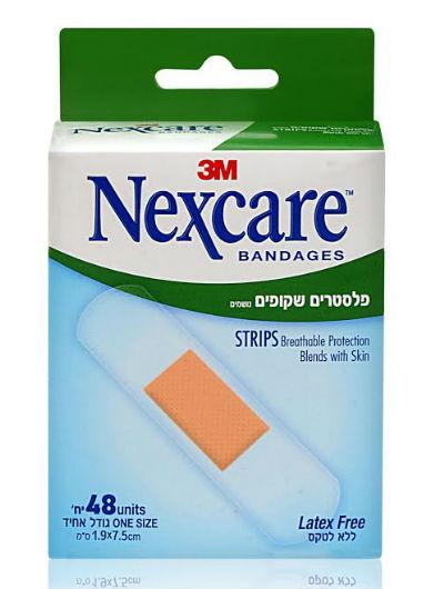 פלסטרים שקופים נקסקר 48 יחידות Nexcare Bandages