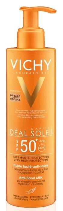 תחליב דוחה חול להגנה גבוהה וישי +Vichy Ideal Soleil Spf50