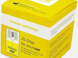 25 מקלוני בדיקה למד הקרישה microINR