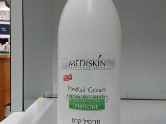 """מדיסיל קרם מדיסקין בתוספת שמן חוחובה 500 מ""""ל MEDISIL CREAM MEDISKIN"""