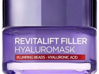 לוריאל רויטליפט מסכת פילר עשירה בחומצה היאלרונית HYALUROMASK  L'Oreal Revitalift Filler Mask Plumpy Beads