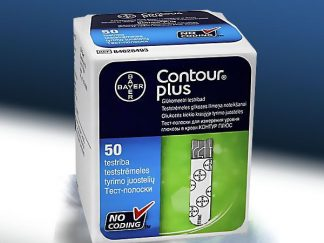 50 מקלוני בדיקה לרמת סוכר בדם קונטור פלוס CONTOUR PLUS STRIPS